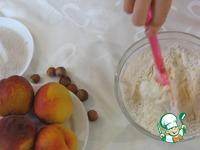 Тарт с персиками и творогом