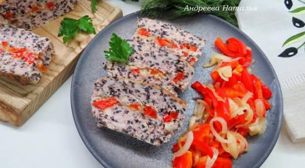 Куриная запеканка с черным рисом, моцареллой и болгарским перцем, пошаговый рецепт с фото