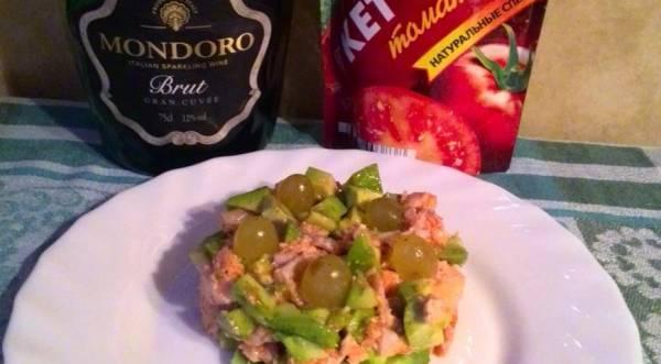 Салат из семги с авокадо, пошаговый рецепт с фото