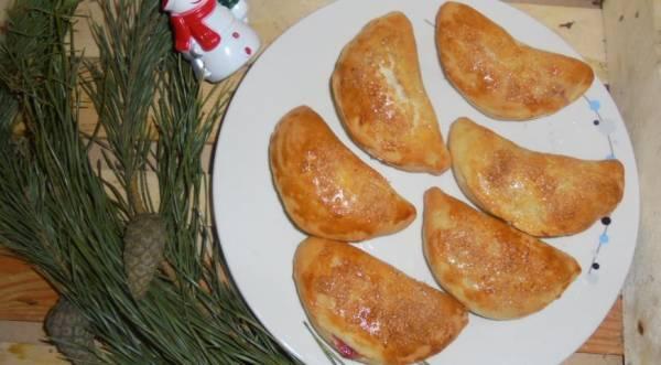 Пирожки с яблоками и клюквой, пошаговый рецепт с фото