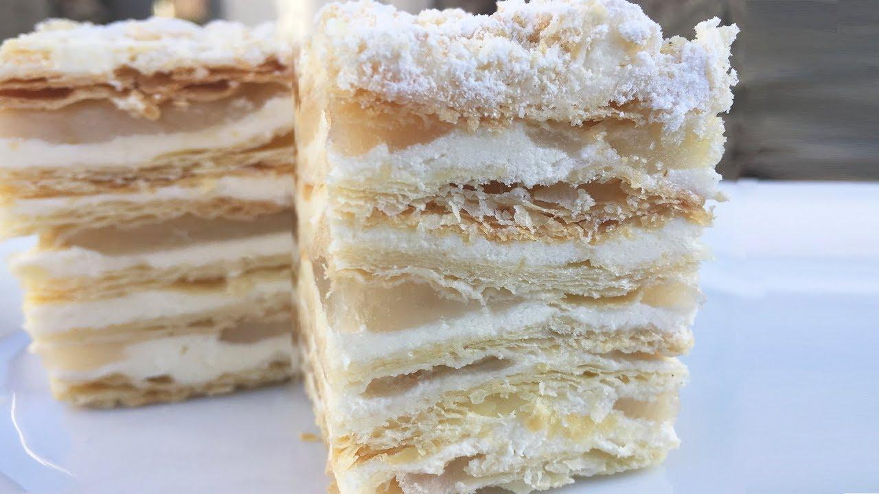 Торт «Наполеон» с яблочной прослойкой