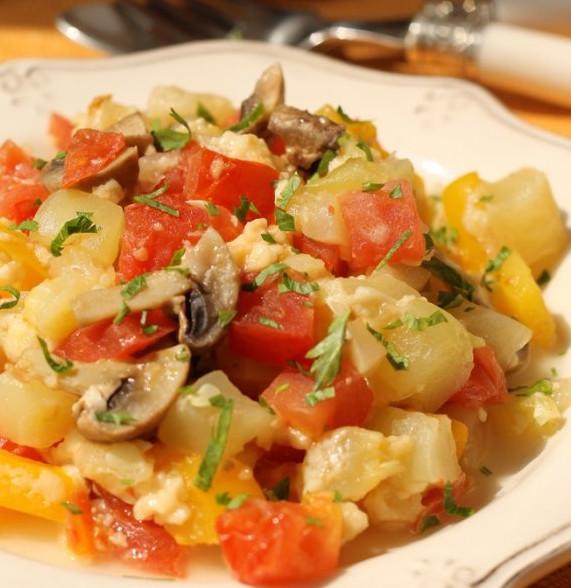 Овощная запеканка с сыром в пароварке