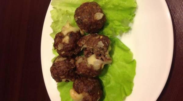 Мясные шарики с сыром, пошаговый рецепт с фото
