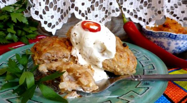 Запеченные ленивые голубцы с квашеной капустой, пошаговый рецепт с фото
