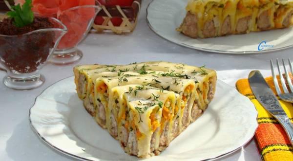 Пельменный пирог в сковороде, пошаговый рецепт с фото