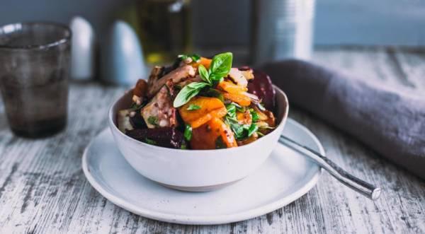 Салат из запеченных овощей, пошаговый рецепт с фото