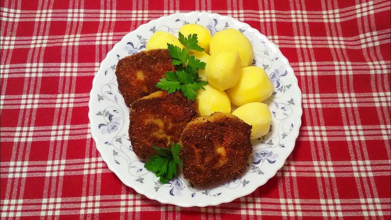 Котлеты куриные с сыром и грибами