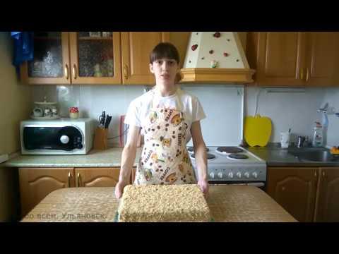 Творожно-банановый торт без выпечки