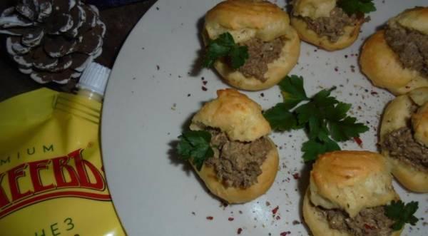 Заварные булочки с печеноным кремом, пошаговый рецепт с фото