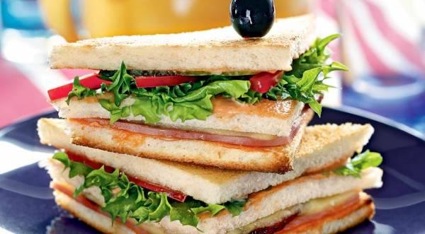 Клубный сэндвич, пошаговый рецепт с фото
