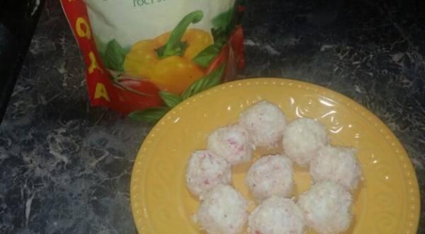 Закуска «Рафаелло», пошаговый рецепт с фото