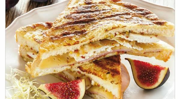 Французский сэндвич «в шубе», пошаговый рецепт с фото