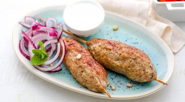 Люля-кебаб из индейки, пошаговый рецепт с фото