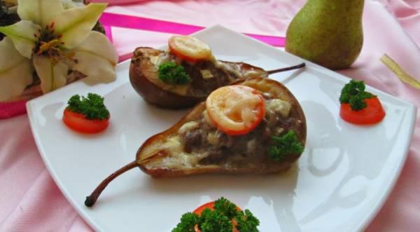 Запеченные фаршированные груши, пошаговый рецепт с фото
