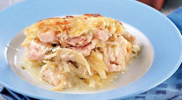 Слоеная запеканка из корневого сельдерея с курицей, пошаговый рецепт с фото