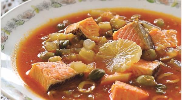 Рыбная солянка из лососевых трех видов, пошаговый рецепт с фото