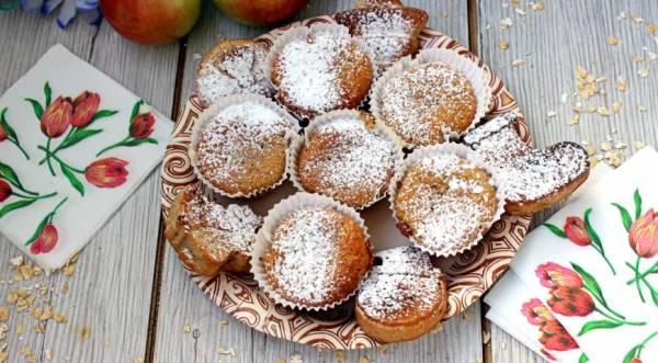 Овсяные кексы с яблоком и корицей, пошаговый рецепт с фото