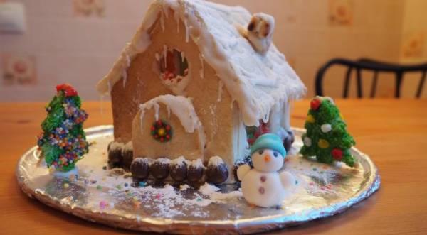 Домик на Рождество, пошаговый рецепт с фото