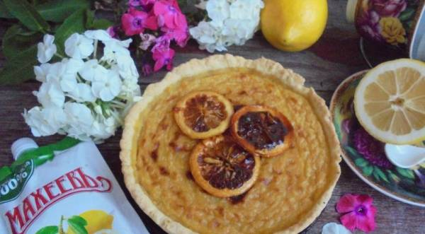 Лимонный пирог, пошаговый рецепт с фото