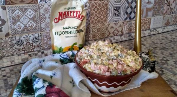 Салат Оливье с майонезом Махеевъ, пошаговый рецепт с фото