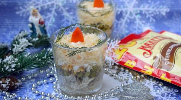 Салат «Новогодние свечи», пошаговый рецепт с фото
