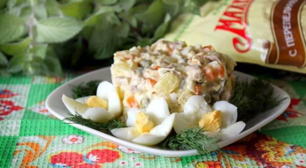 Зимний салат с говядиной и каперсами, пошаговый рецепт с фото