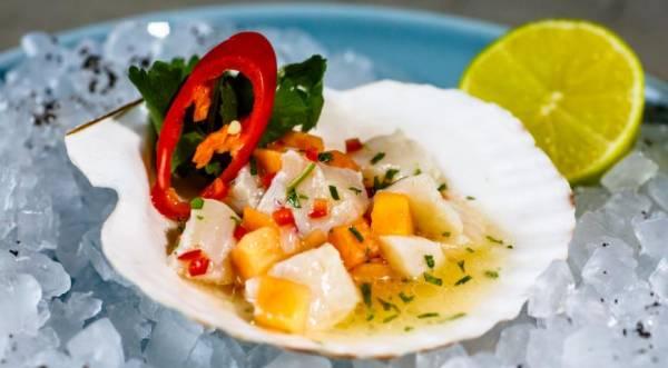 Тартар из гребешка и папайи от Гиви Хатисова, пошаговый рецепт с фото