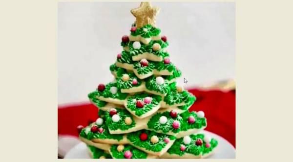 Имбирная Новогодняя Елочка из печенья, пошаговый рецепт с фото