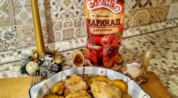 Курица под горчичным маринадом от Махеевъ, пошаговый рецепт с фото
