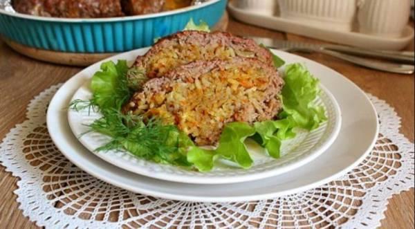 Мясной рулет с пряным рисом, пошаговый рецепт с фото