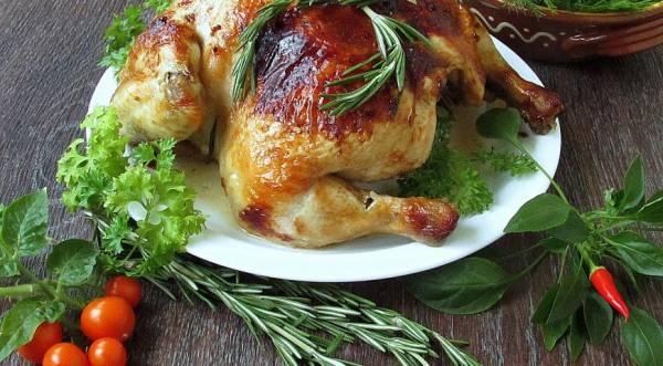 Курица ароматная с лимоном и розмарином, пошаговый рецепт с фото