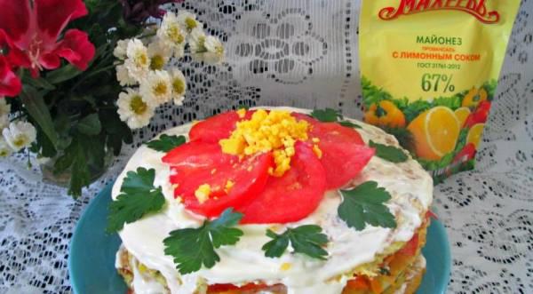 Овощной торт , пошаговый рецепт с фото