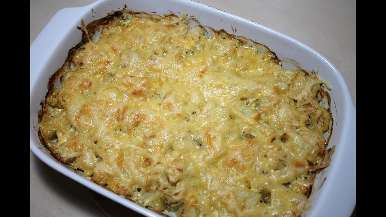 Картофель с куриным филе в духовке