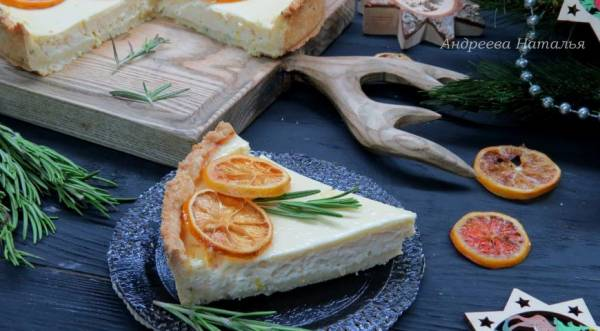 Лимонный тарт с розмарином, пошаговый рецепт с фото