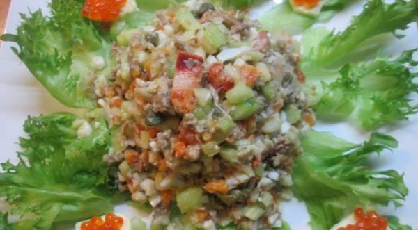 Салат оливье по старинному рецепту, пошаговый рецепт с фото