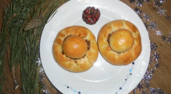 Пирожки с мясом и гречневой кашей по-татарски, пошаговый рецепт с фото