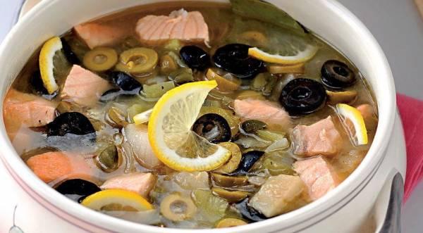 Солянка рыбная сборная, пошаговый рецепт с фото