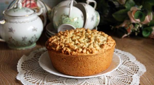 Песочный пирог с творогом и хурмой, пошаговый рецепт с фото