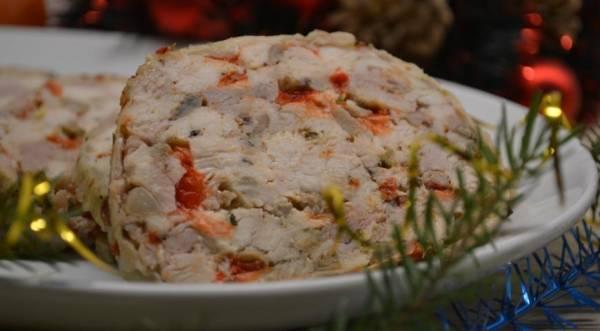 Праздничный куриный рулет, пошаговый рецепт с фото