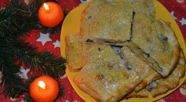 Пирог с картофелем, индейкой и грибами, пошаговый рецепт с фото