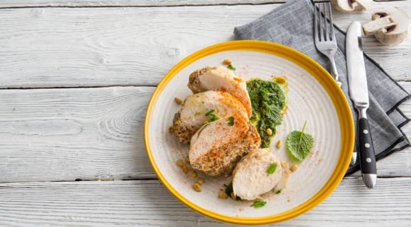 Запеченные куриные грудки с грибами, пошаговый рецепт с фото