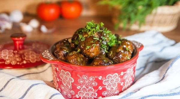 Фрикадельки в медово-горчичном соусе, пошаговый рецепт с фото