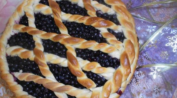 Черничный пирог, пошаговый рецепт с фото