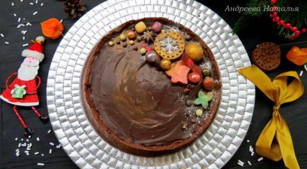 Шоколадно-каштановый тарт, пошаговый рецепт с фото