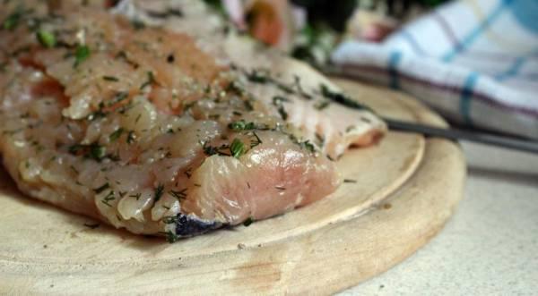 Малосольный балтийский лосось, пошаговый рецепт с фото