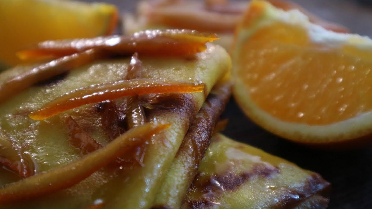 Блинчики с творогом под апельсиновым соусом