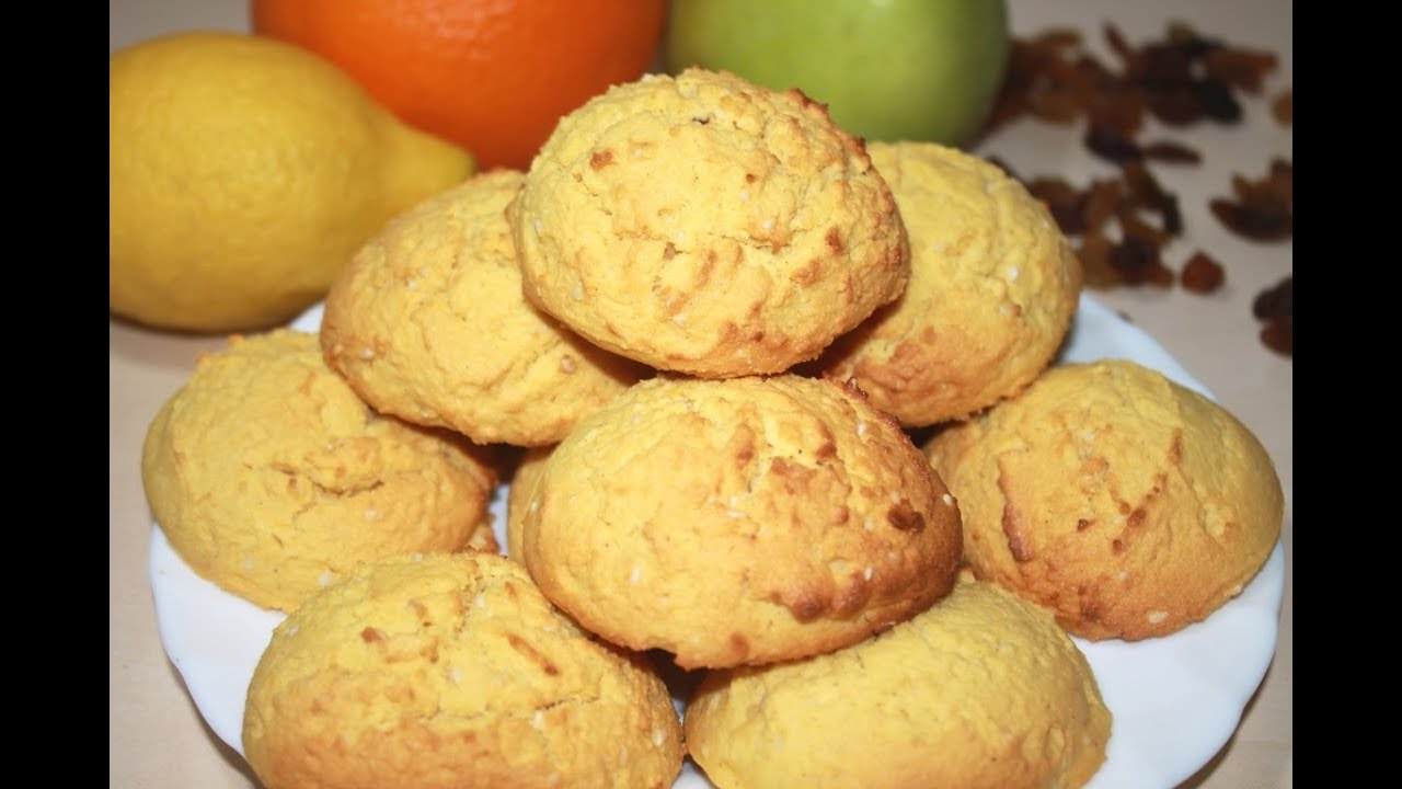 Печенье без глютена кукурузное