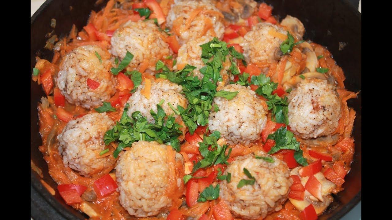 Рисовые шарики с овощами