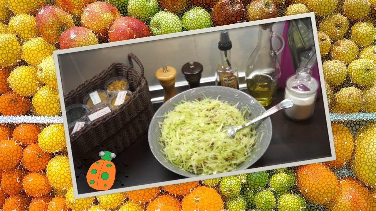 Салат из капусты с семечками