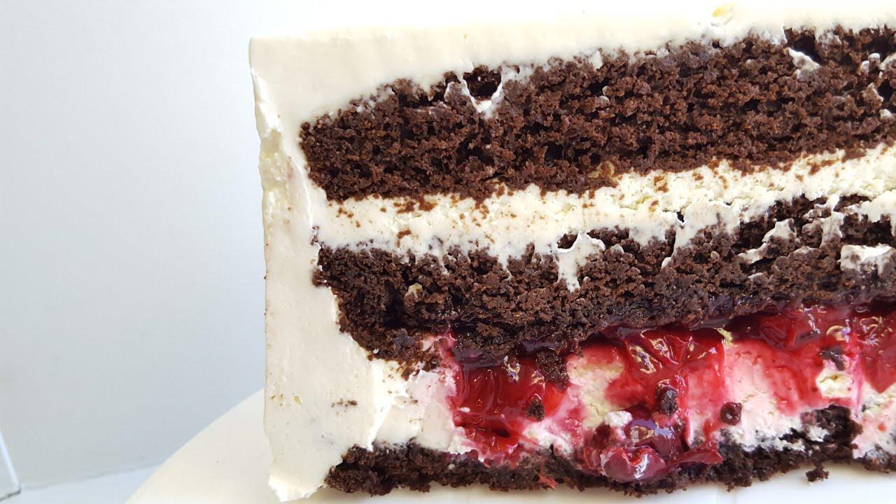 Супершоколадный торт с вишней